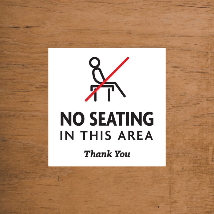 No Seating Chairback Marker
